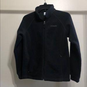 Columbia Large Kids Fleece Zip up jacket Black
